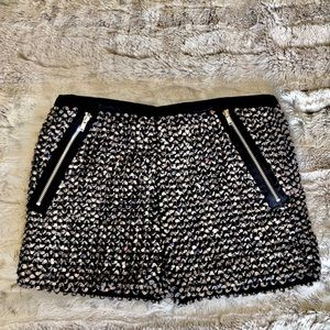 Heartbreaker Silver Sequined Stretch Shorts. New!